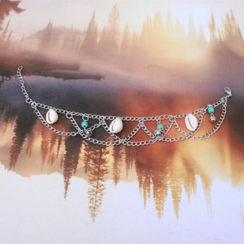 Charming Multilayer Shell Bell Hippie Traditional Anklets -  COLORMIX