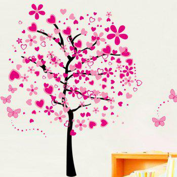 Fashion Pink Tree Pattern Wall Sticker For Bedroom Livingroom Decoration - COLORMIX