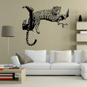 Leopard Animals Wall Sticker For Bedroom Livingroom Decoration - BLACK