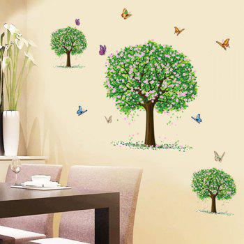 Fashion Three Trees Pattern Wall Sticker For Bedroom Livingroom Decoration