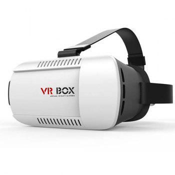 Fashion 3D Virtual Reality Video Glasses VR Box For 4.7 - 6.1 Inch Smartphone - WHITE WHITE