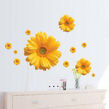 Fashion Daisy Pattern Wall Sticker For Bedroom Livingroom Decoration