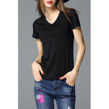 Sheath Solid Color T-Shirt