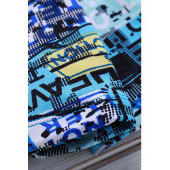Men's Colorful Printing Elastic Swimming Trunks - COLORMIX L