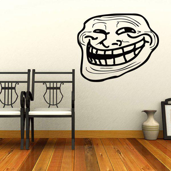 Fashion Funny Geezer Pattern Wall Sticker For Bedroom Livingroom Decoration - BLACK
