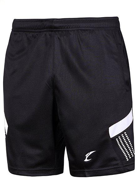 Men's Sports Style Color Block Quick Dry Shorts - WHITE/BLACK M