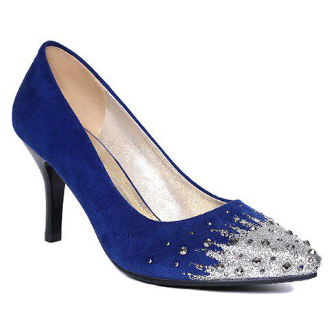 Trendy Rivets and Colour Block Design Women's Pumps