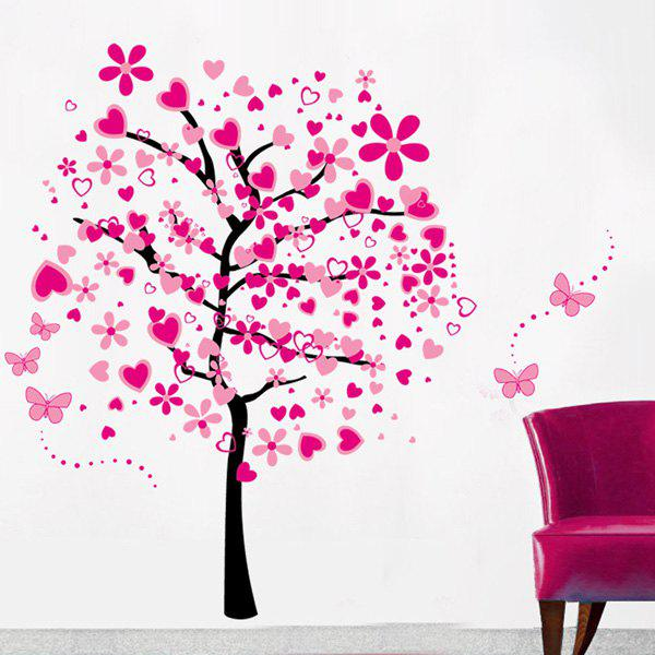 Fashion Pink Tree Pattern Wall Sticker For Bedroom Livingroom Decoration