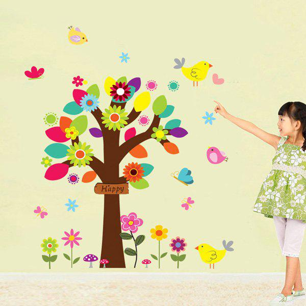 Fashion Colorful Tree Pattern Wall Sticker For Bedroom Livingroom Decoration - COLORMIX