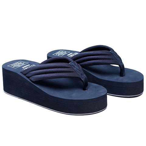 Simple Platform and Solid Colour Design Women's Slippers