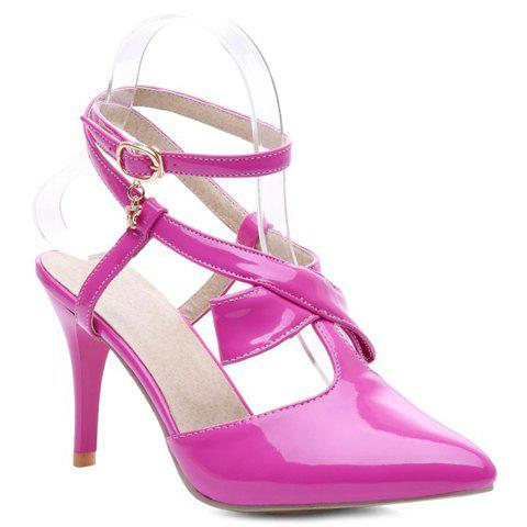 Elegant Pointed Toe and Bow Design Women's Sandals - ROSE 38