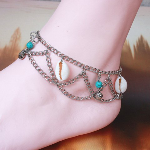 Charming Multilayer Shell Bell Anklet For Women - COLORMIX