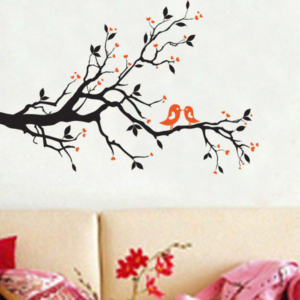 Fashion Tree Branch Bird Pattern Wall Sticker For Bedroom Livingroom Decoration - COLORMIX