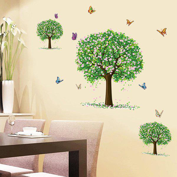 Fashion Three Trees Pattern Wall Sticker For Bedroom Livingroom Decoration - COLORMIX