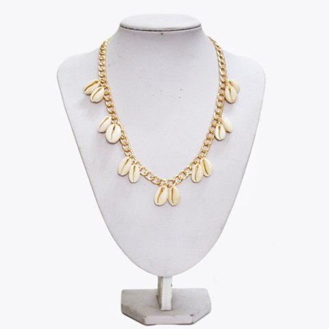Alloy Shells Decorated Necklace - COLORMIX