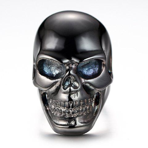 Chic Titanium Steel Hollow Out Skull Ring For Men