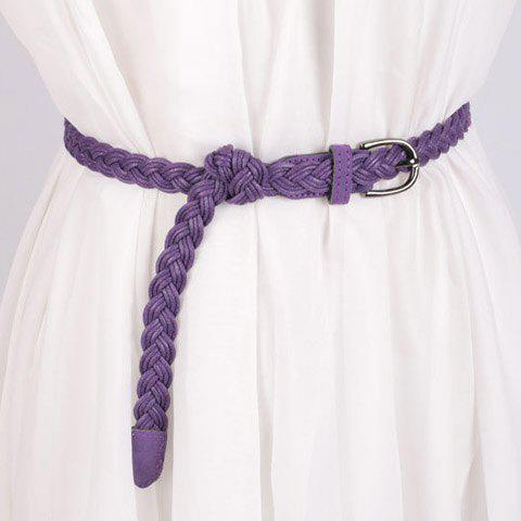Elegant Pin Buckle Wax String Knitted Waist Belt For Women