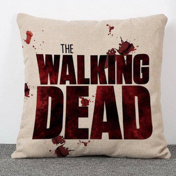 Chic Blood The Walking Dead Pattern Square Shape Flax Pillowcase (Without Pillow Inner) - COLORMIX