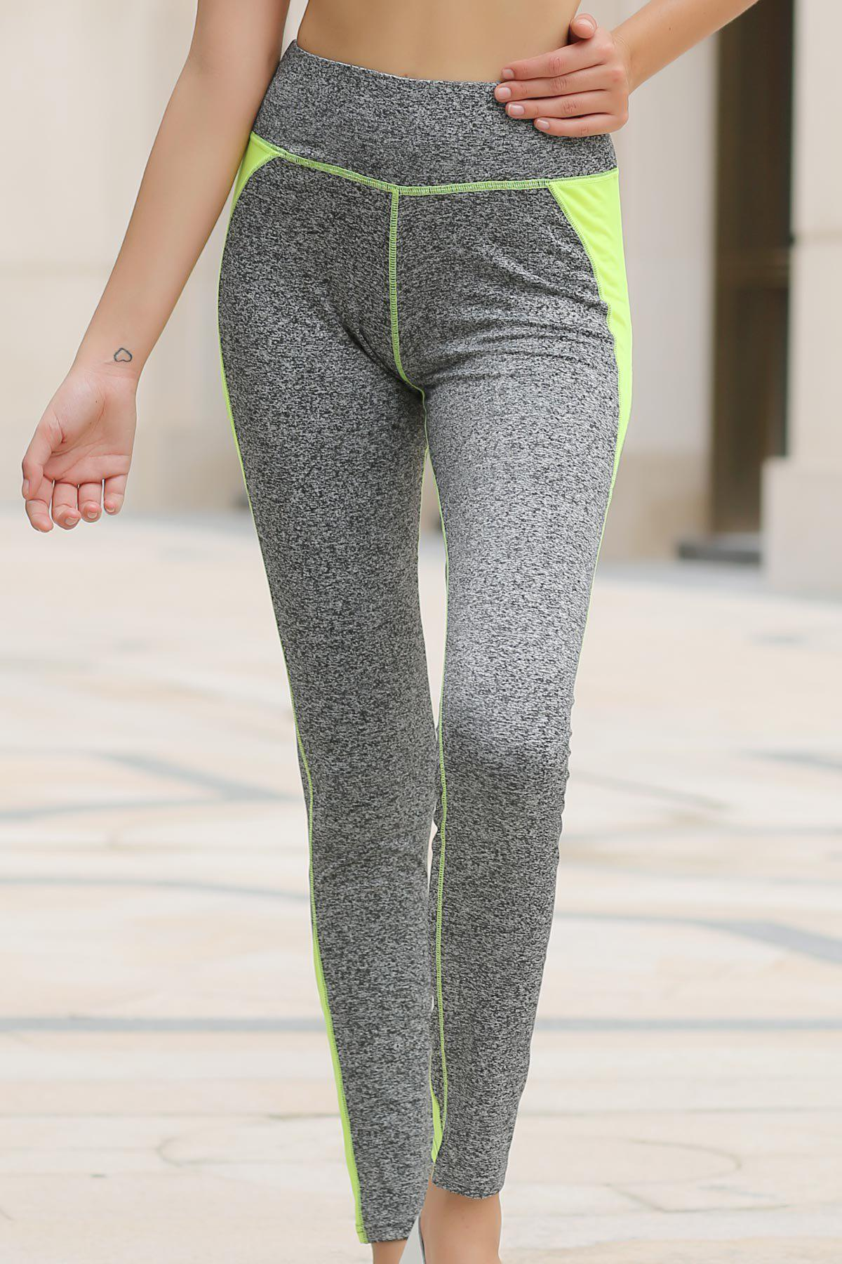 Active Skinny Color Block Pants For Women