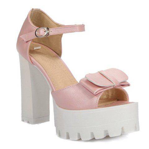 Fashionable Platform and Peep Toe Design Women's Sandals - PINK 39