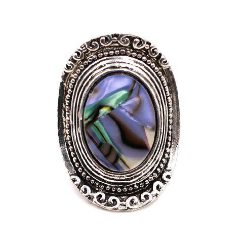 Gorgeous Faux Gem Embossed Alloy Ring For Women