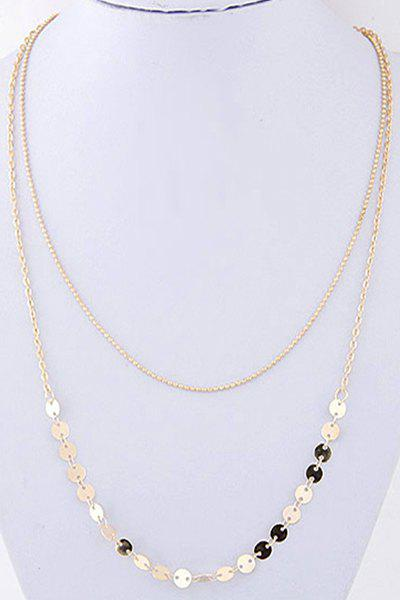 Chic Sequins Double-Deck Necklace For Women