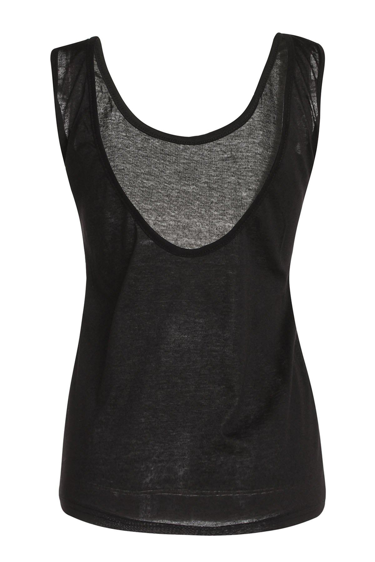 Stylish Women's Scoop Neck Backless Tank Top