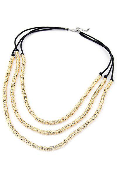 Punk Alloy Three Layered Necklace - GOLDEN