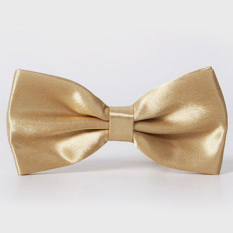 Stylish Men's Solid Color Smooth Satin Bow Tie - PLATINUM