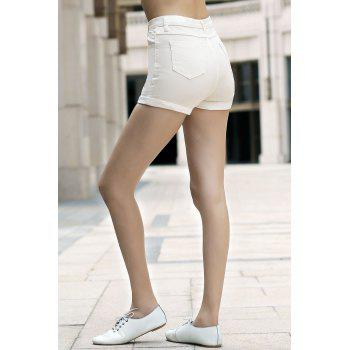 Stylish High Waist Solid Color Women's Shorts