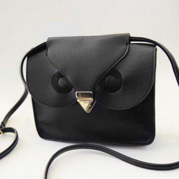 Retro Hasp and Owl Design Crossbody Bag For Women