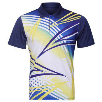 Turn Down Collar Quick Dry Badminton Training Men's T-Shirt