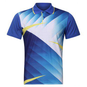 Turn Down Collar Quick Dry Men's Badminton Training T-Shirt