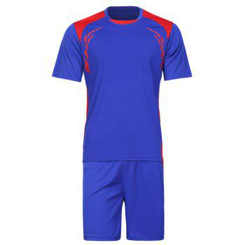 Men's Splicing Training Jersey Set (T-Shirt+Shorts)