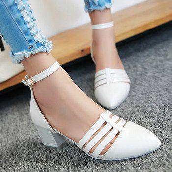 Stylish Pointed Toe and Two-Piece Design Women's Pumps - 36 36
