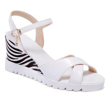 Fashionable Rhinestone and Wedge Heel Design Women's Sandals