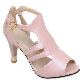 Hollow Out Peep Toe Pumps