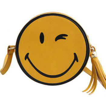 Cute Tassels and Smile Pattern Design Women's Crossbody Bag