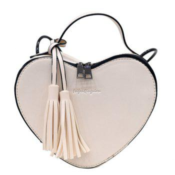 Fashion Heart Pattern  and Tassels Design  Women's Crossbody Bag