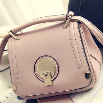 Casual Solid Color and Hasp Design Women's Crossbody Bag - SHALLOW PINK