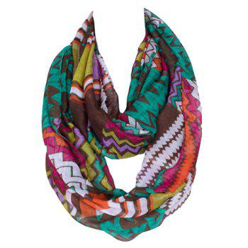 Chic Zigzag Stripe Pattern Women's Multicolor Voile Scarf
