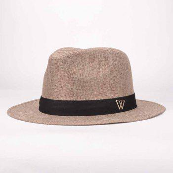 Chic Letter Decorated Top Hat Fedora Hat