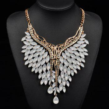 Fake Crystals Rhinestone Wings Necklace