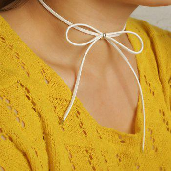 Hollow Out Bow Embellished Chokers