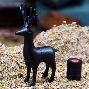 Mode 3D Animaux cerf sika Forme Carte message Aimant - Noir