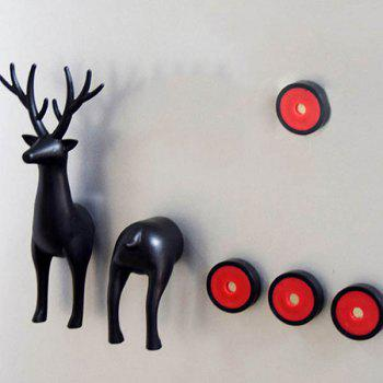 Fashion 3D Animals Sika Deer Shape Card Message Fridge Magnet - BLACK BLACK