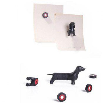 Fashion 3D Animals Puppy Dachshund Shape Card Message Fridge Magnet -  BLACK