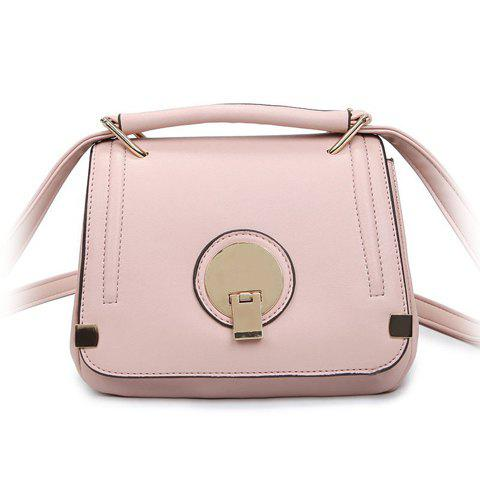 Casual Solid Color and Hasp Design Women's Crossbody Bag