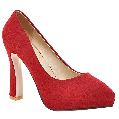 Office Style Suede and Platform Design Women's Pumps