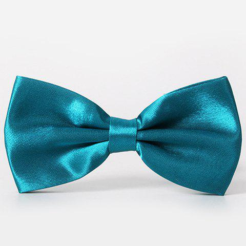 Stylish Men's Solid Color Smooth Satin Bow Tie